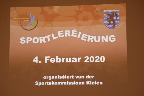 Sportleréierung vun der Gemeng Kielen 2019